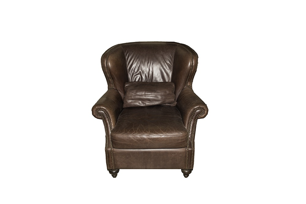 Delightful Havertys Leather Chair And Ottoman ...