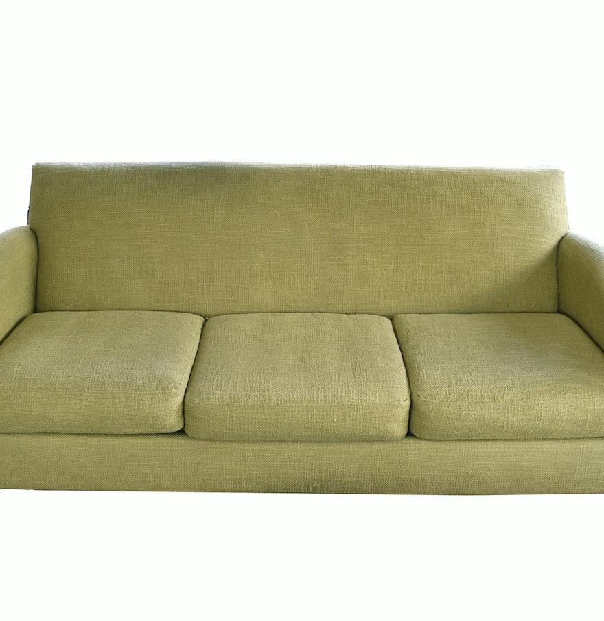 Macys Living Room Furniture Macys Max Home Olive Colored Linen Sofa Ebth