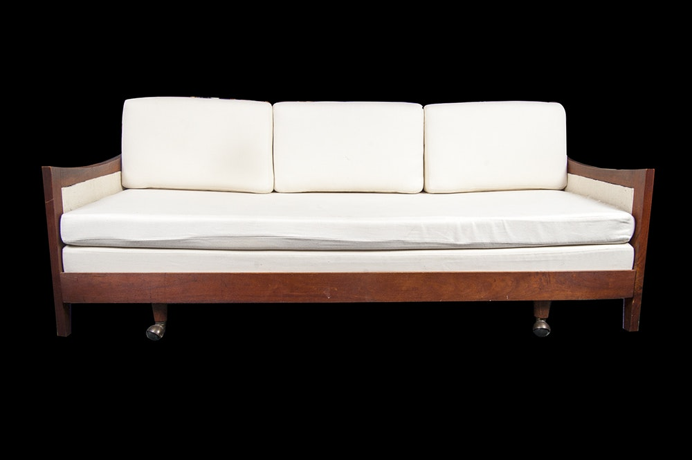 Mid Century Modern Sofa With Trundle Bed Ebth