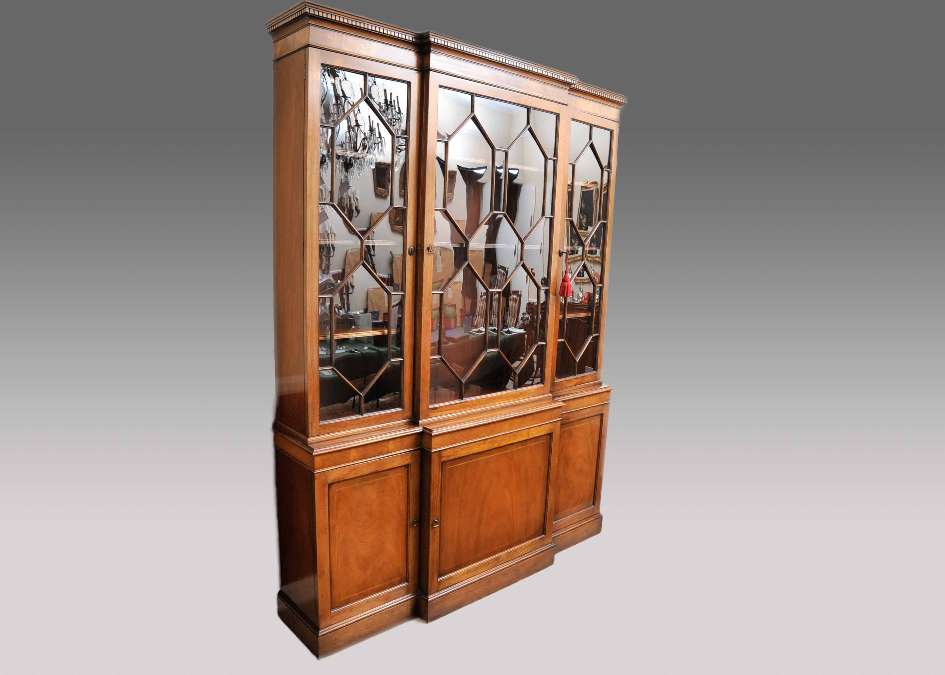 Baker Furniture George III Style Breakfront China Cabinet ...
