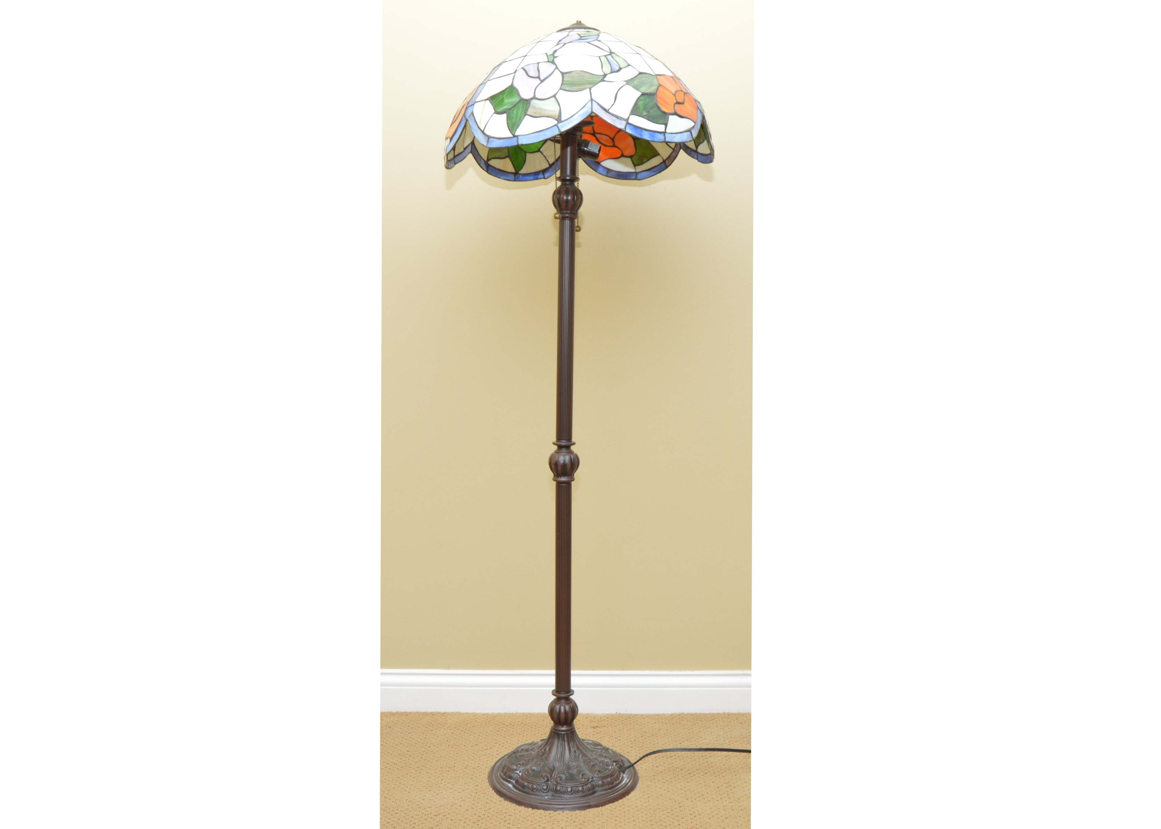 Standing Floral Tiffany Lamp