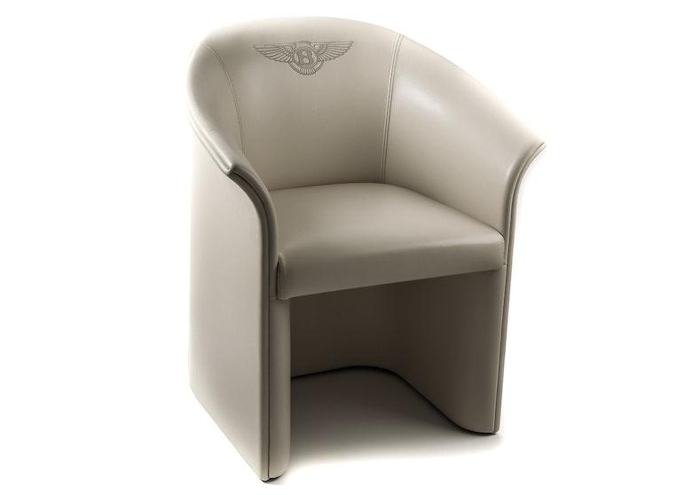 Interline Italia Leather Club Chair Ebth