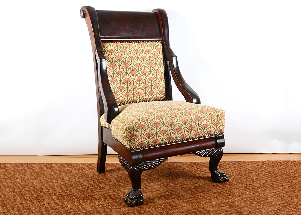 Delightful American Furniture Louisville Ky #4: American Empire Antebellum Style Parlor Chair
