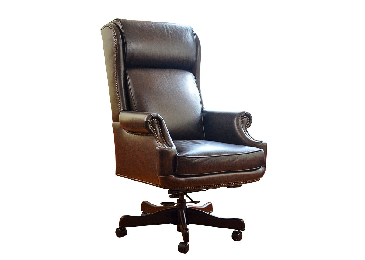Hancock and Moore Leather Kensington Gooseneck Chair EBTH