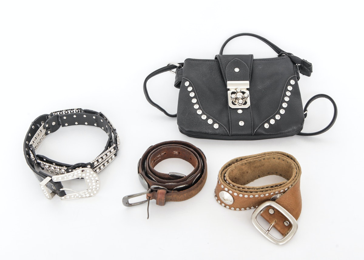 s leather purse and belts ebth