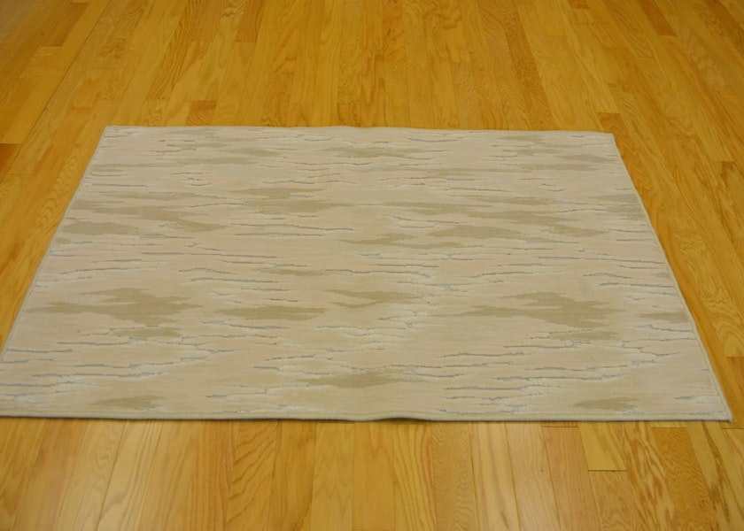 Modern High Low Wilton Woven Wool And Viscose Area Rug Ebth