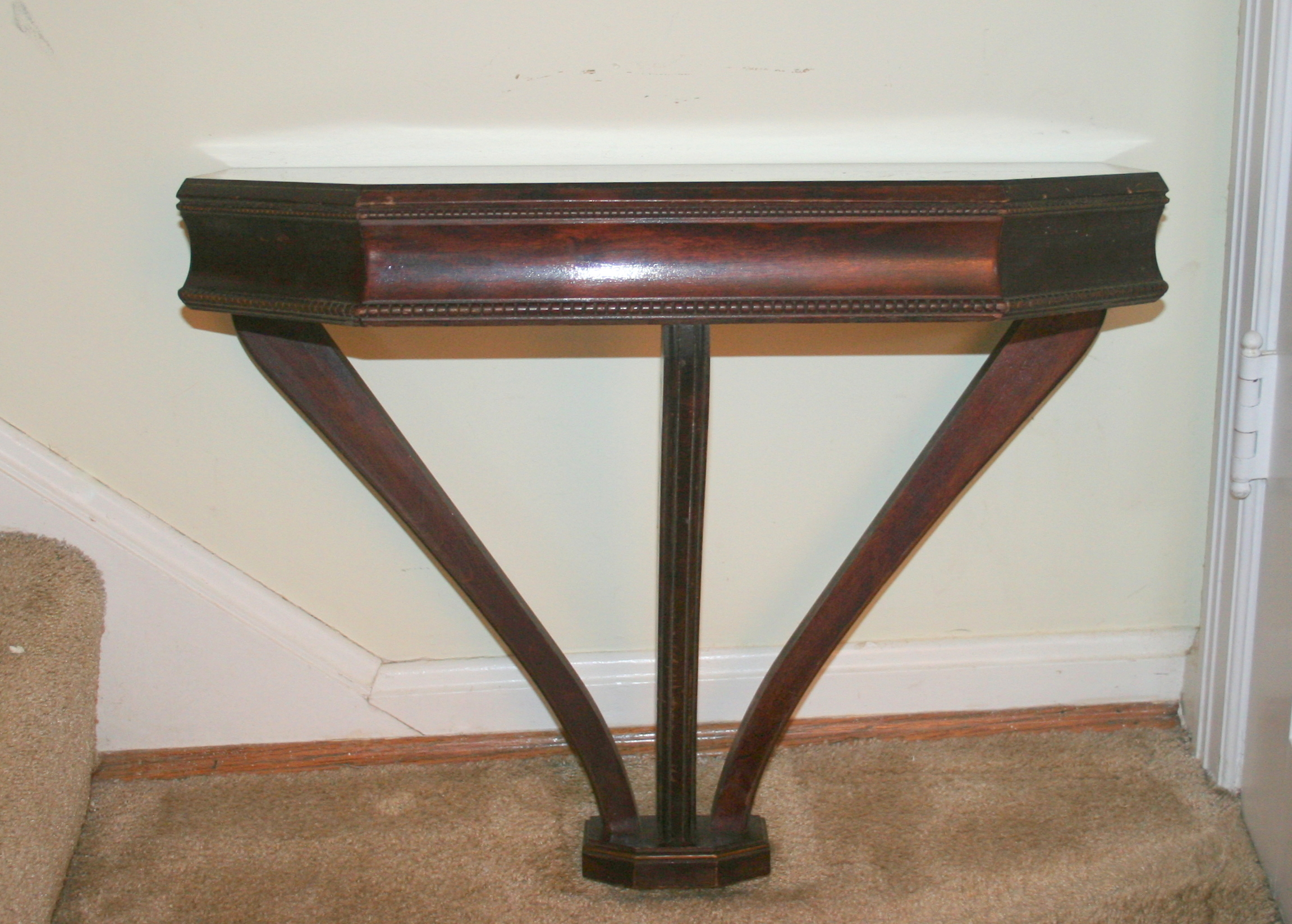 Vintage Mahogany WallMount Console Table EBTH