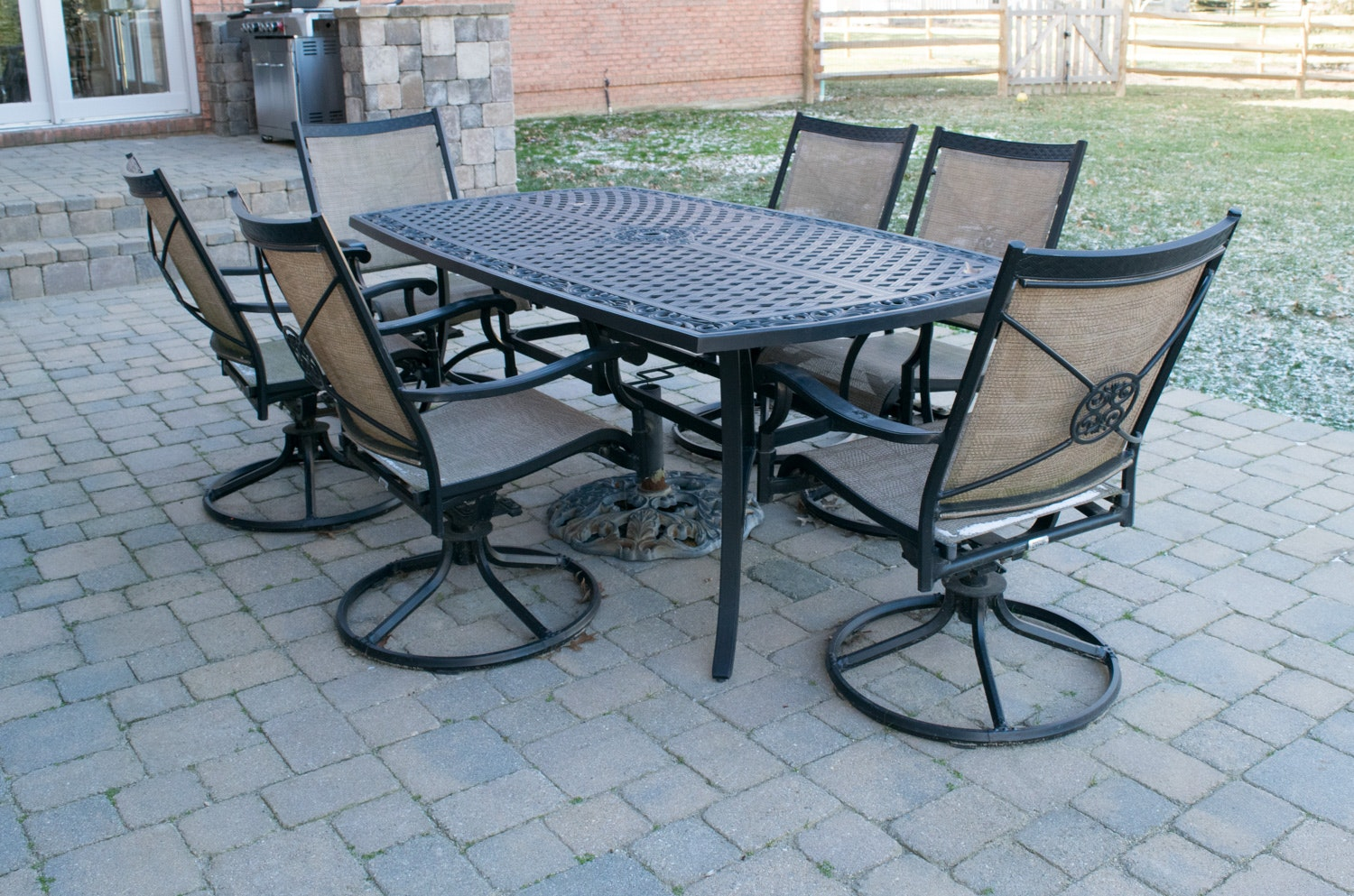 martha stewart patio table and chairs set ebth rh ebth com martha stewart patio table glass martha stewart patio table replacement glass