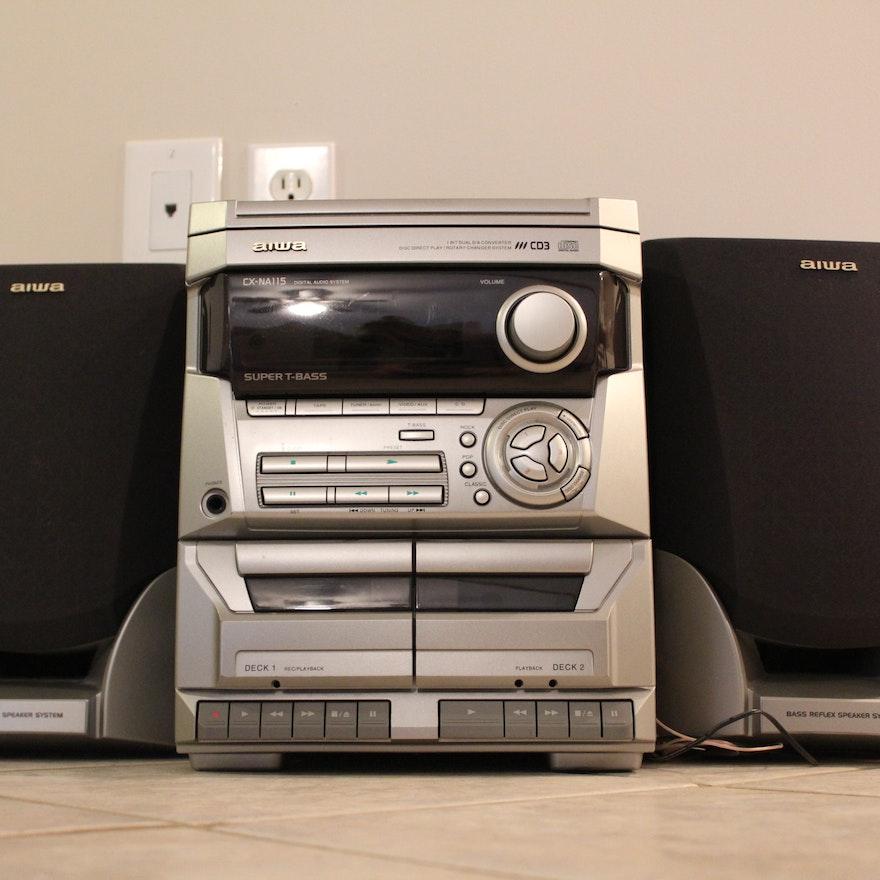 Aiwa CX NA115 Bookshelf Stereo