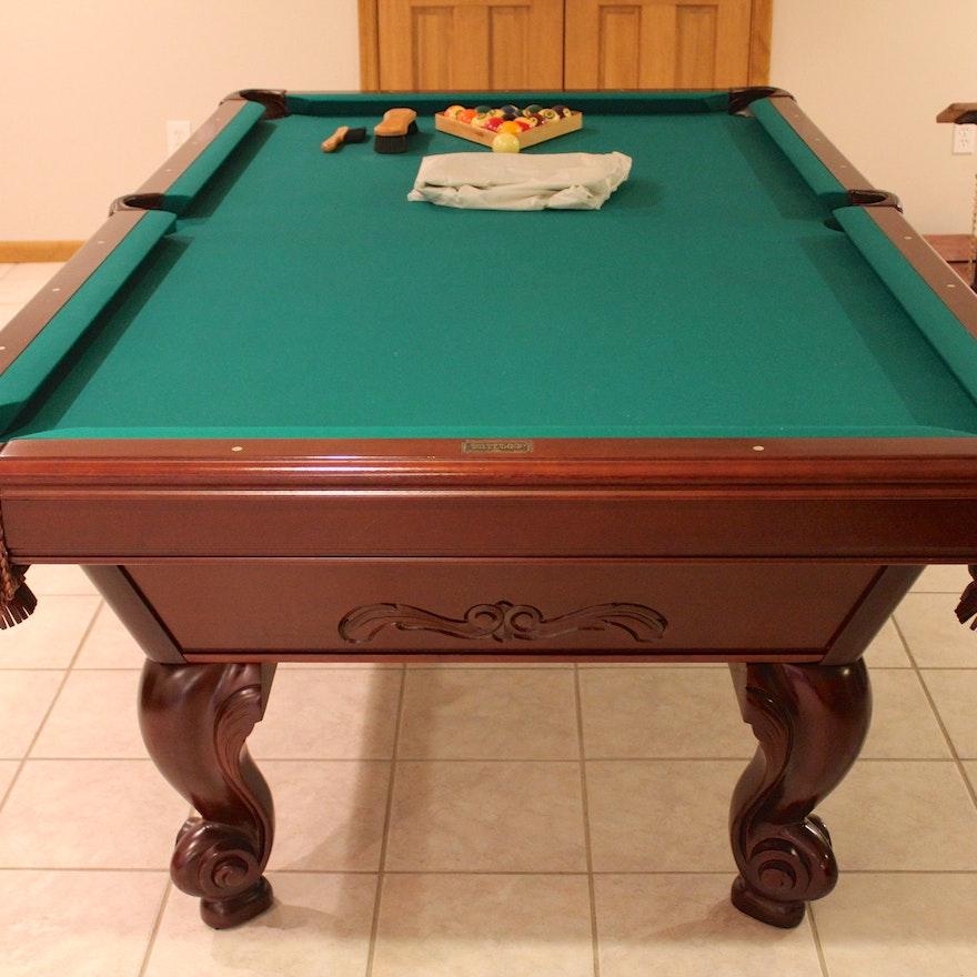 Brunswick Manchester Mahogany Pool Table EBTH - Brunswick mission pool table