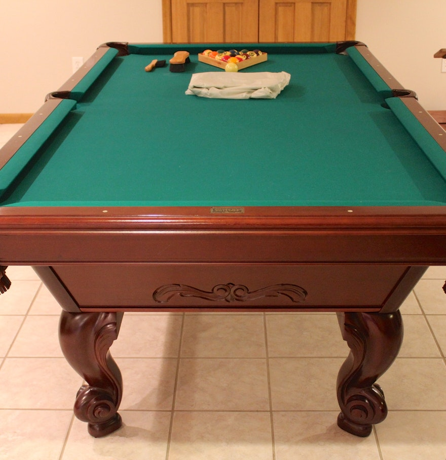 brunswick manchester mahogany pool table ebth