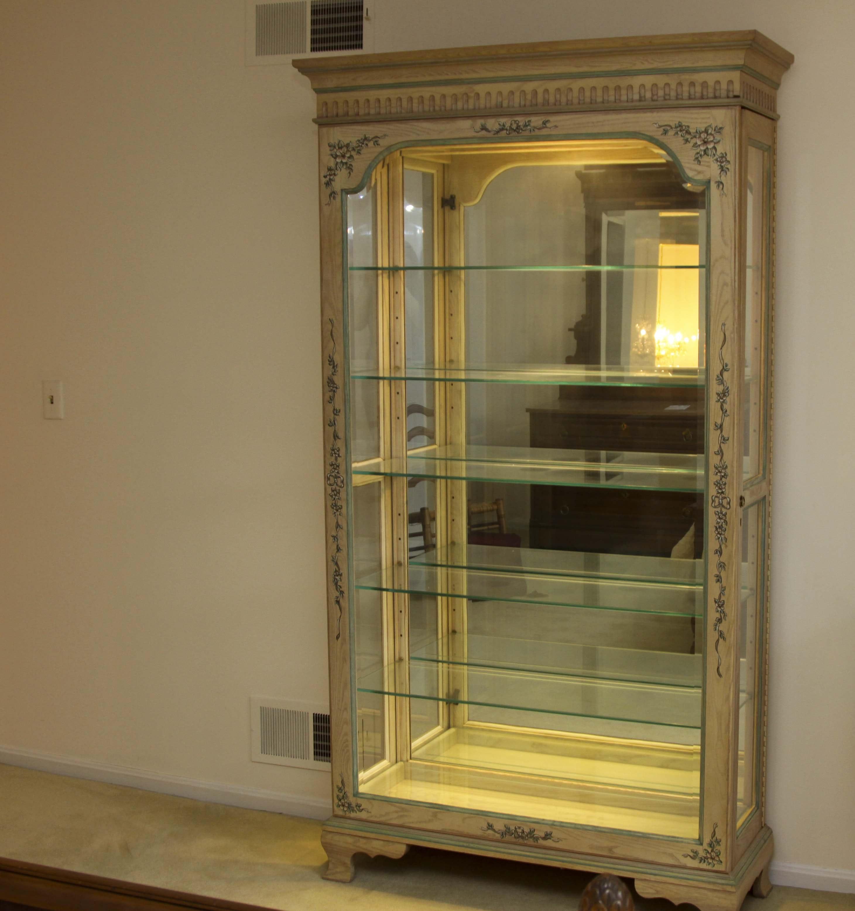 Jasper Cabinet Company Lighted Curio Cabinet ...