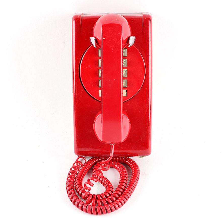 Vintage Red ITT Push Button Phone