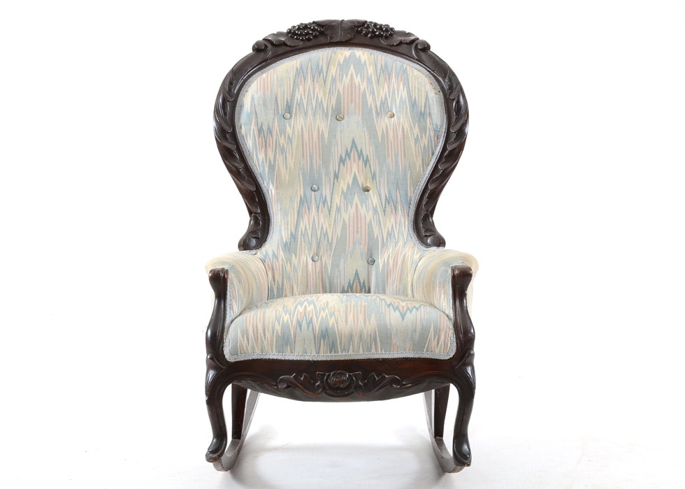 1860 Victorian Ladyu0027s Slipper Rocking Chair ...  sc 1 st  EBTH.com & 1860 Victorian Ladyu0027s Slipper Rocking Chair : EBTH