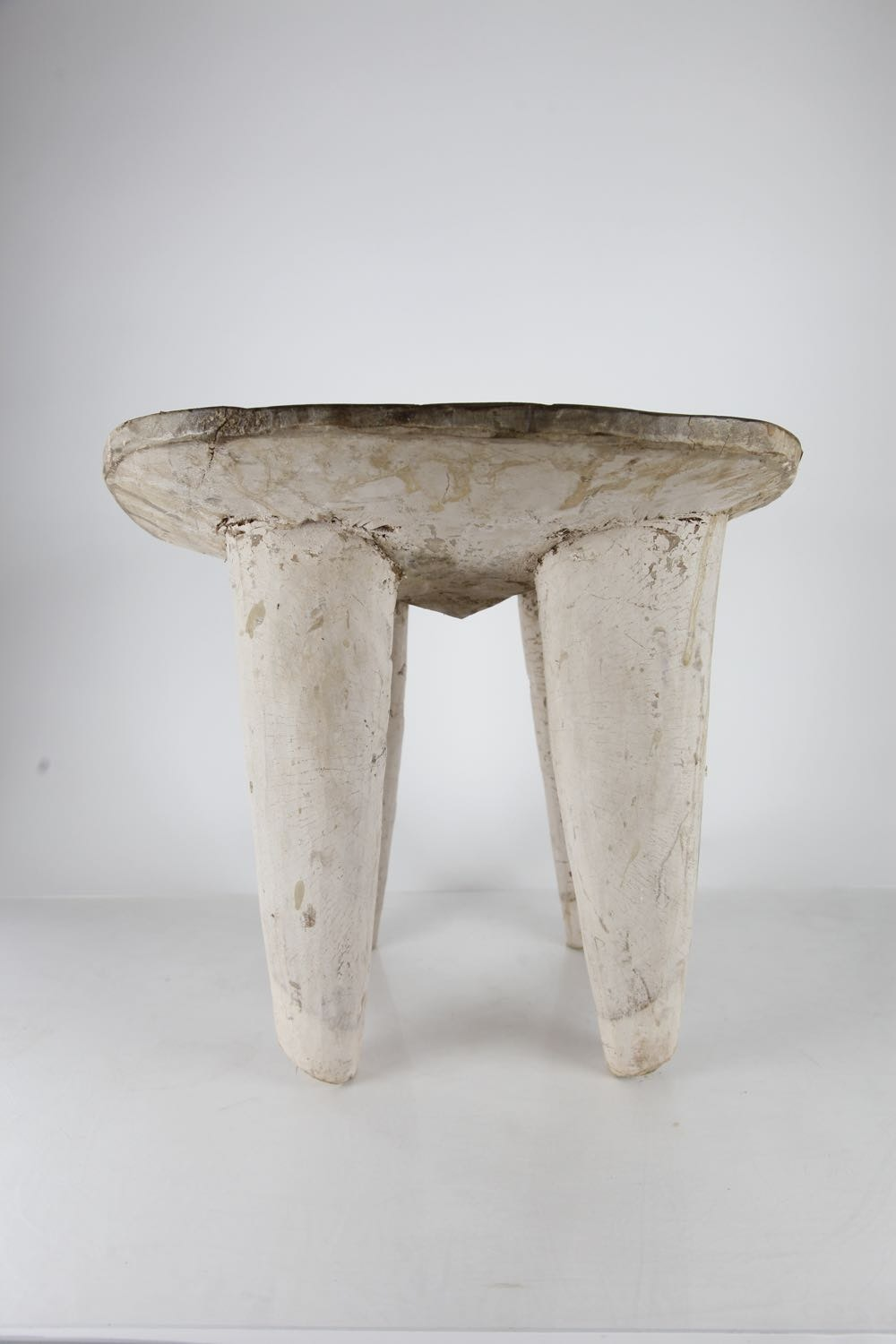 Antique African Handcarved Stool Ebth