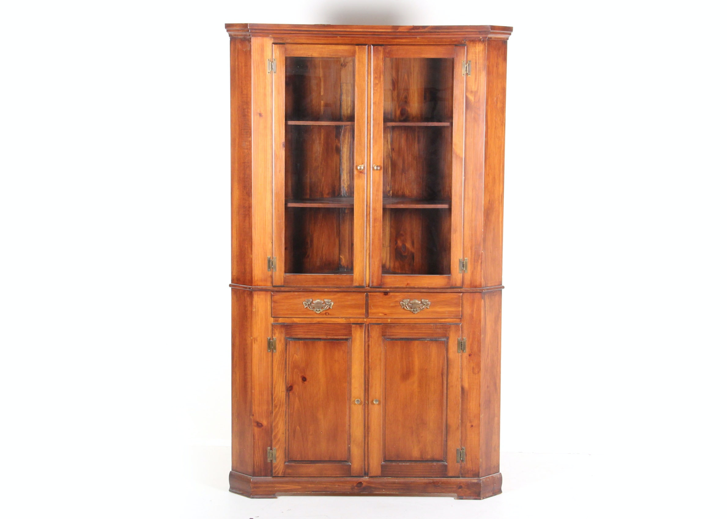 Mastercraft Pine Corner China Cabinet ...