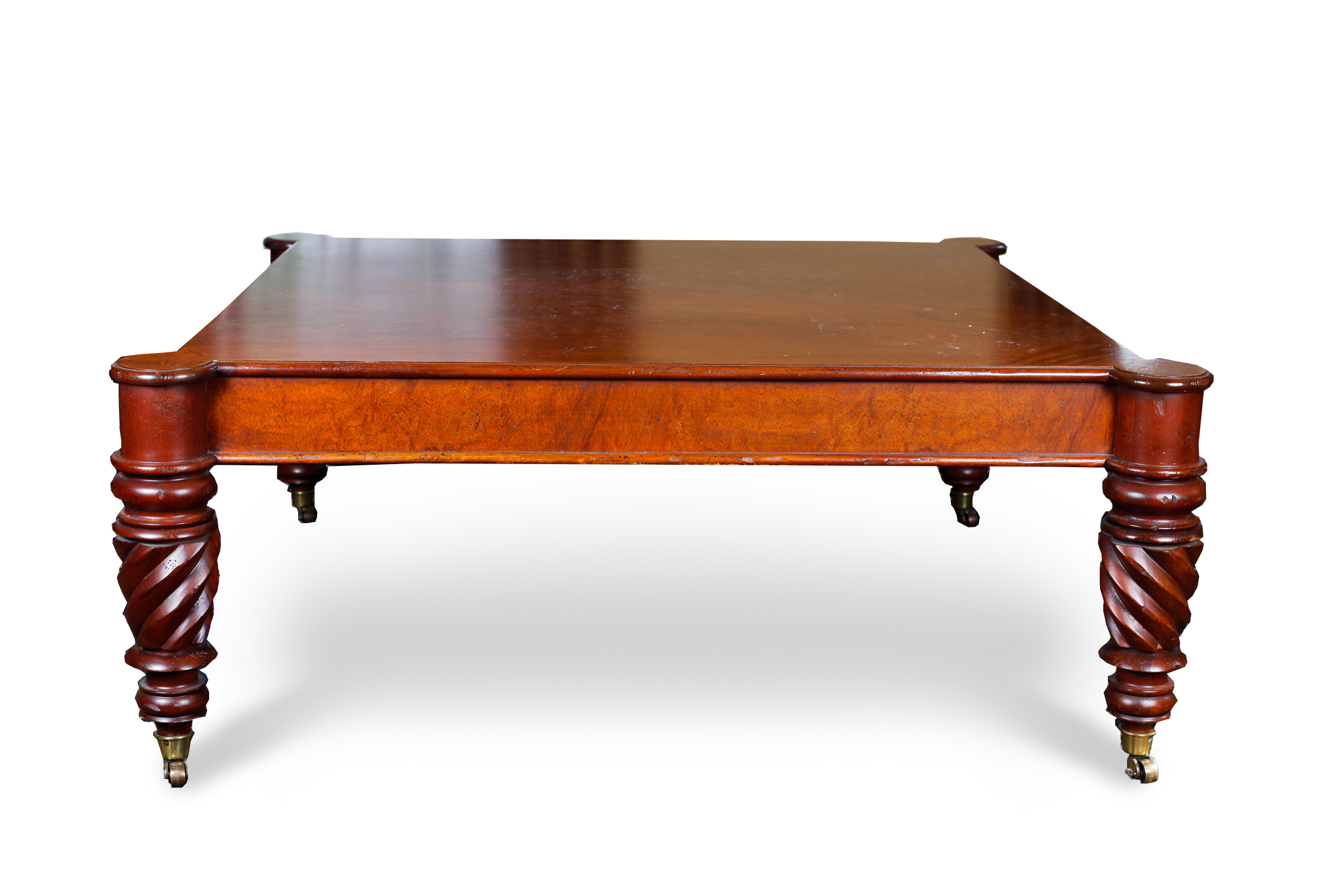 Baker Furniture Milling Road West Indies Flame Walnut Coffee Table