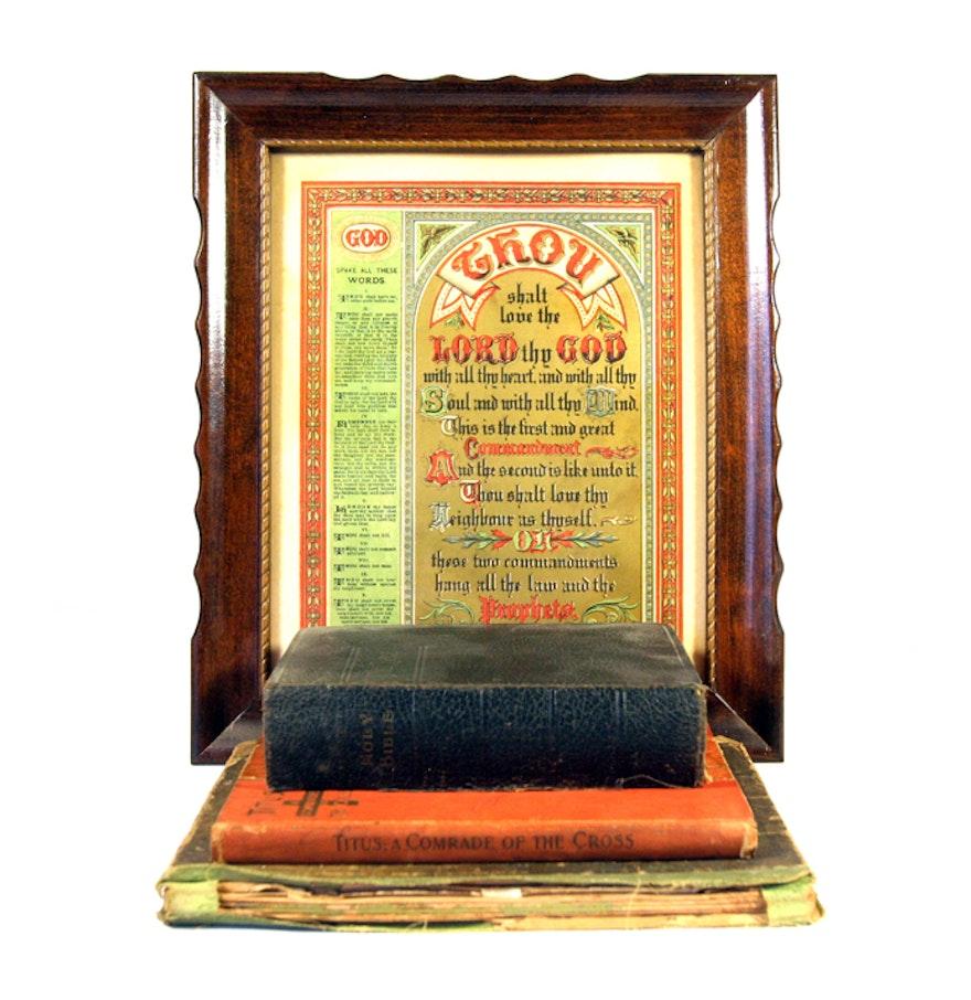 Antique Religious Books And Decor EBTH