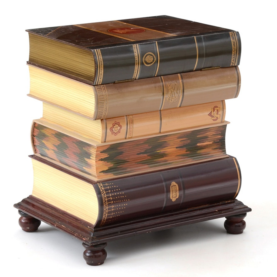 Stacked Book End Table With Storage