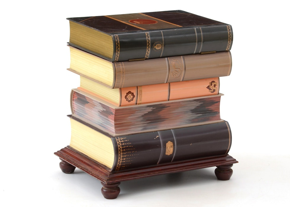 Stacked Book End Table With Storage ...