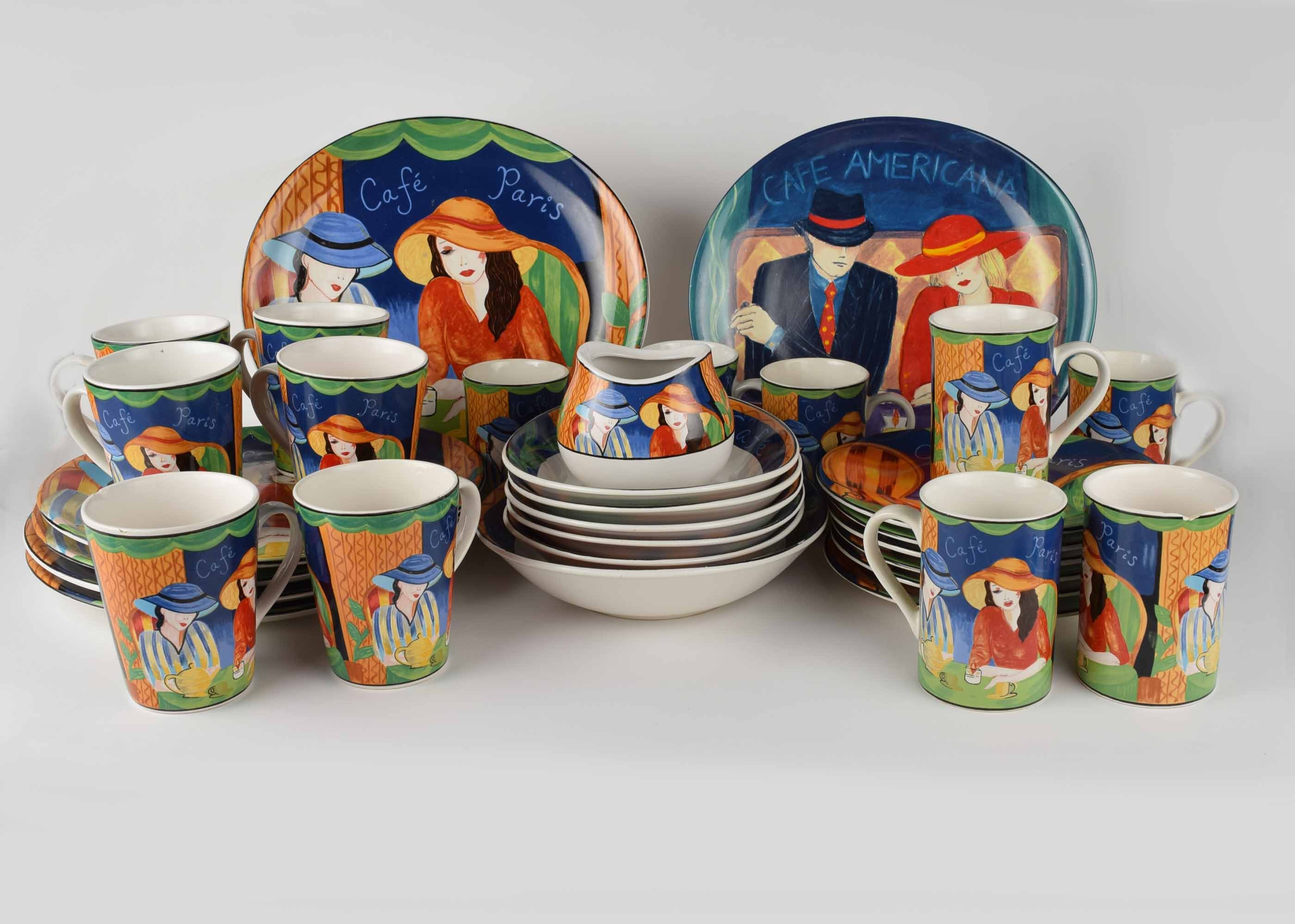 Sango  Cafe Paris  Dinnerware ... : paris plates dinnerware - pezcame.com