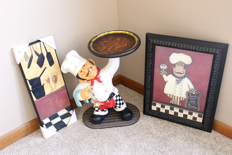 Italian chef themed kitchen decor ebth for Chef themed kitchen ideas