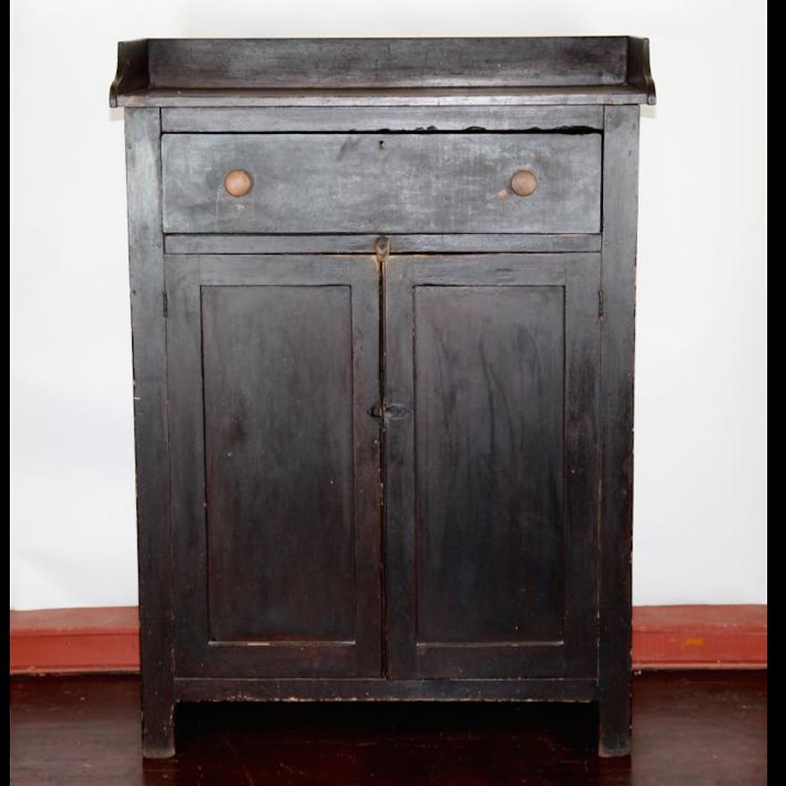 Antique Basswood Jam Cupboard ... - Antique Basswood Jam Cupboard : EBTH