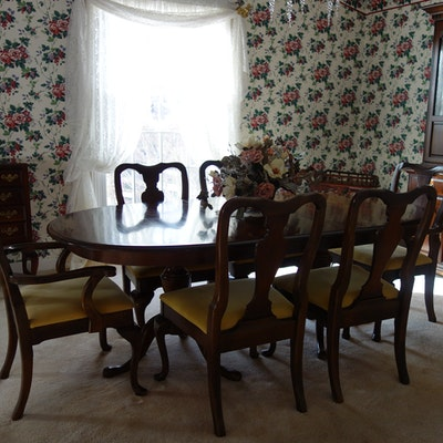 Rare Vintage Tell City Chair Co Oak Sleigh Table Ebth
