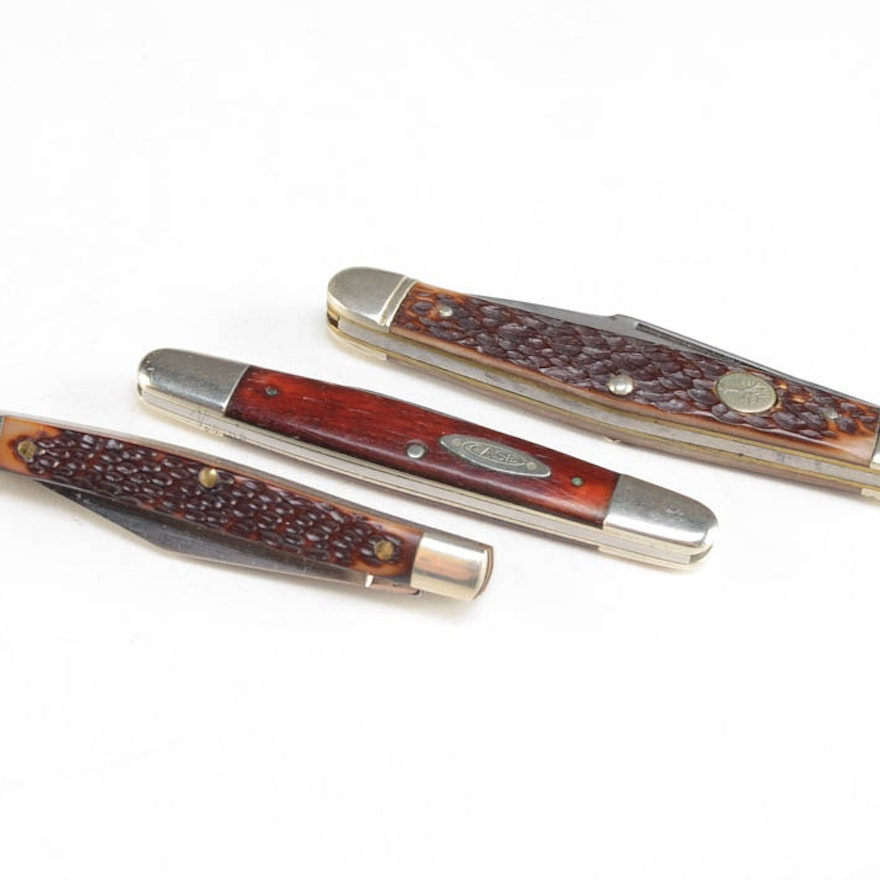 Vintage Pocket Knives by Case, Frontier and Boker