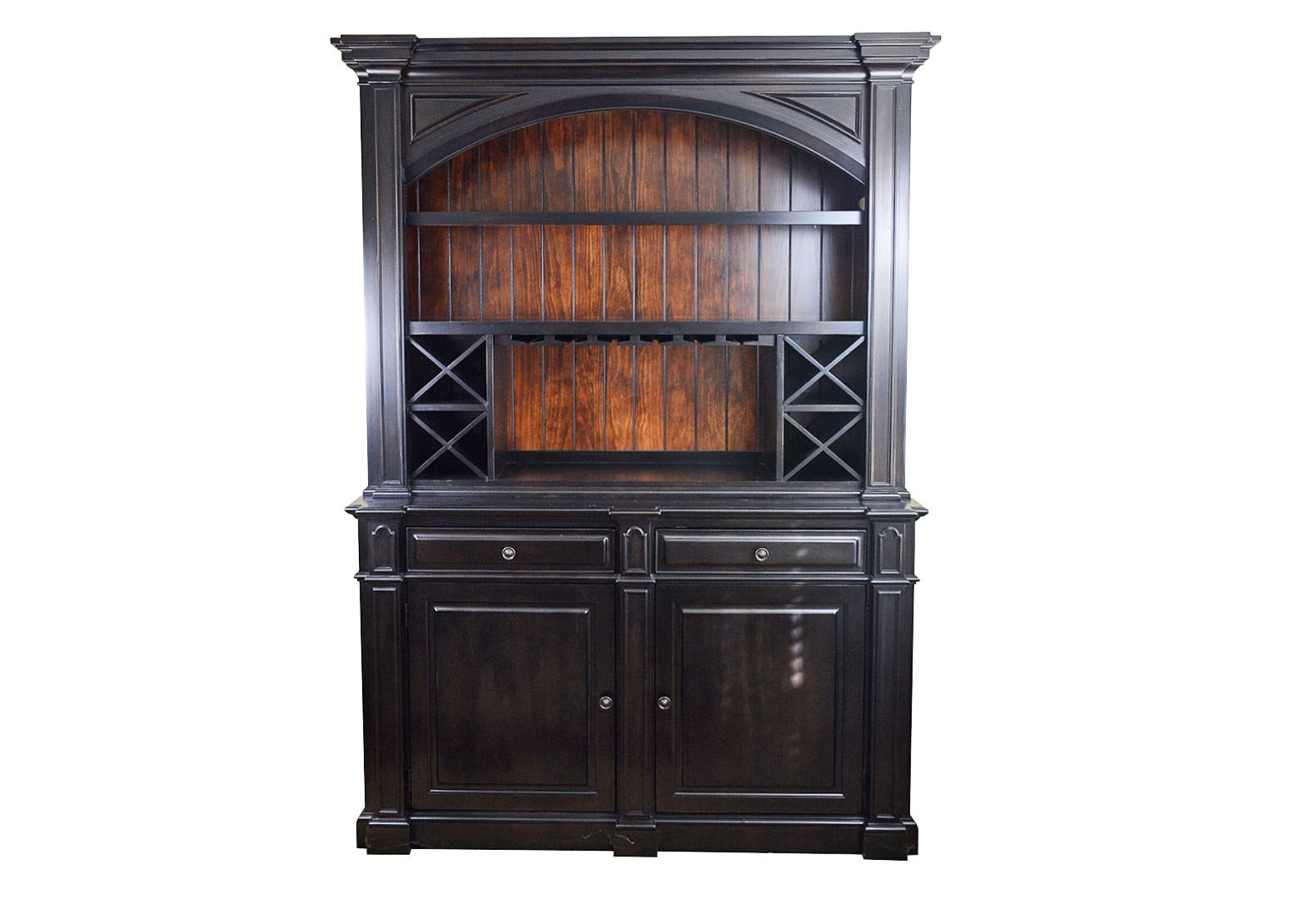 Dark Wood China Cabinet By Havertys Furniture ...