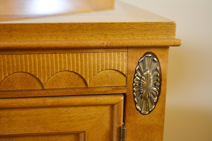 Stanley Furniture Federal Style Maple Buffet Sideboard Ebth
