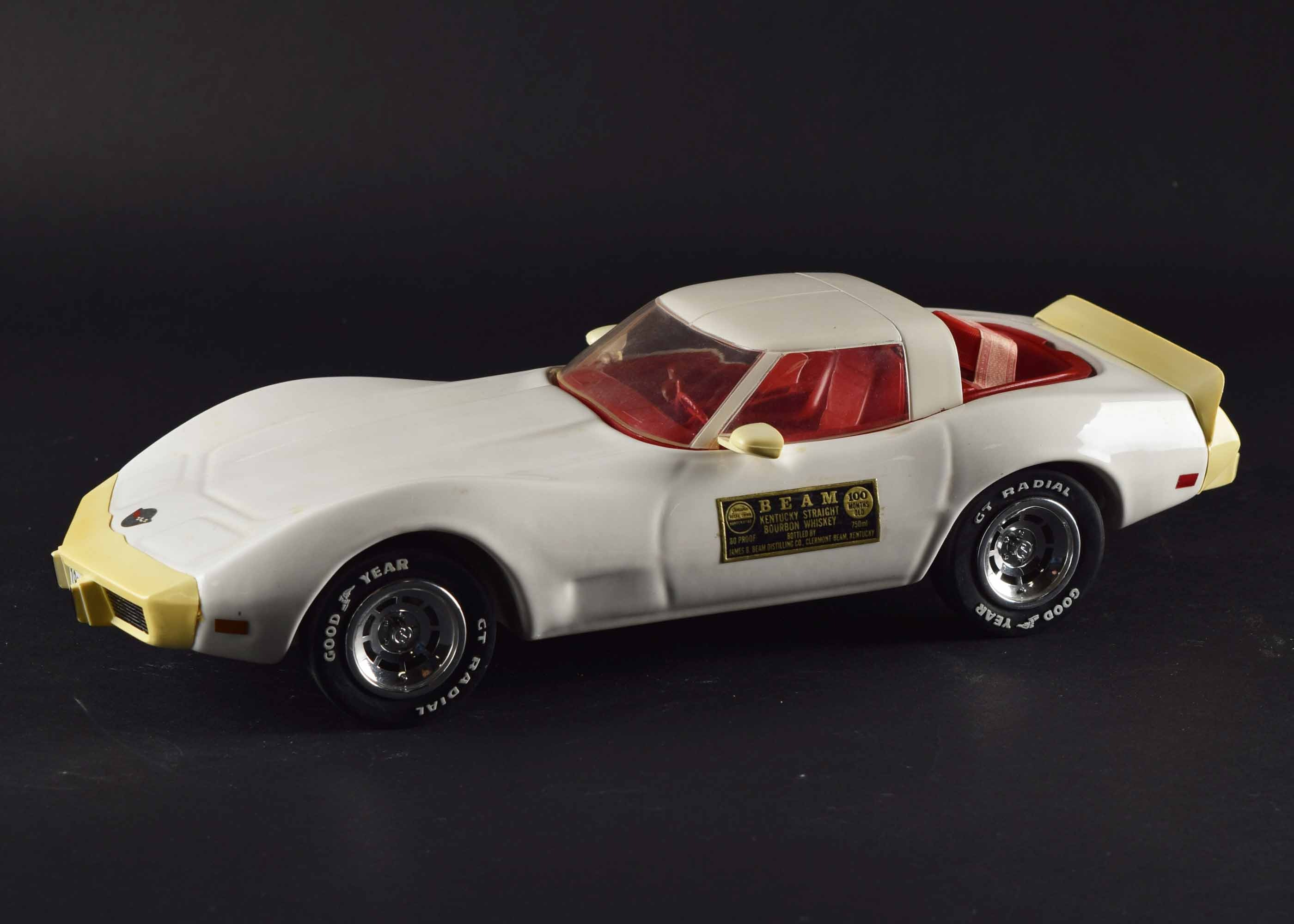 1978 Jim Beam White Corvette Collectible Decanter