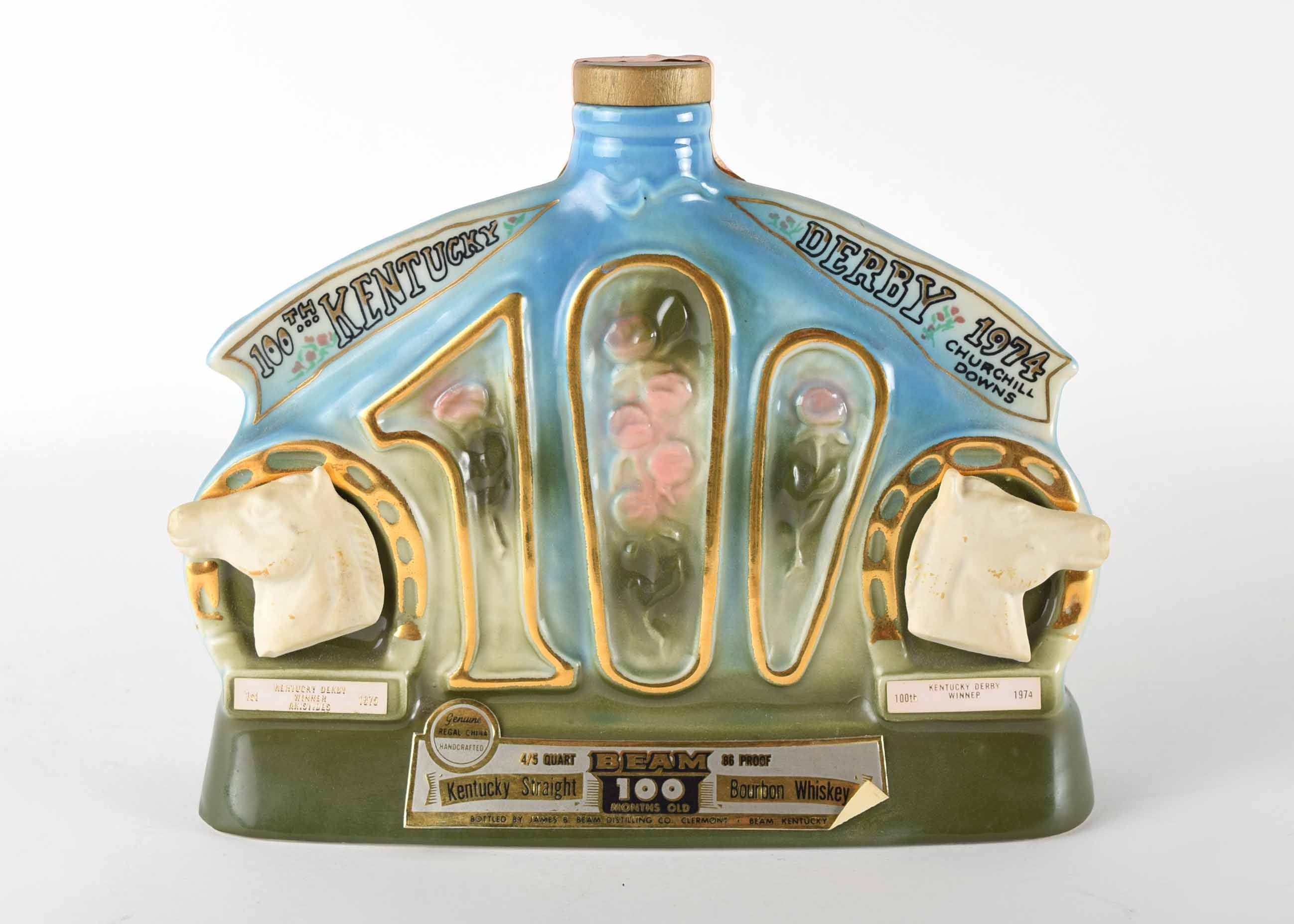 1974 100th Kentucky Derby Jim Beam Decanter