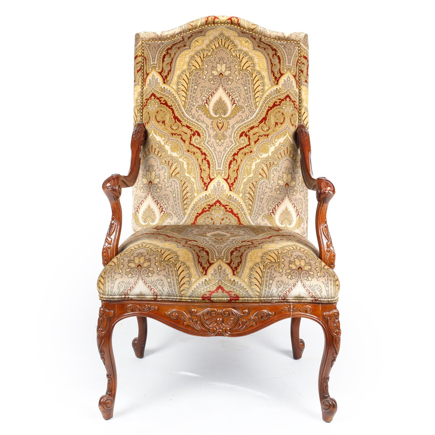 Louis XV Style Upholstered Armchair   EBTH