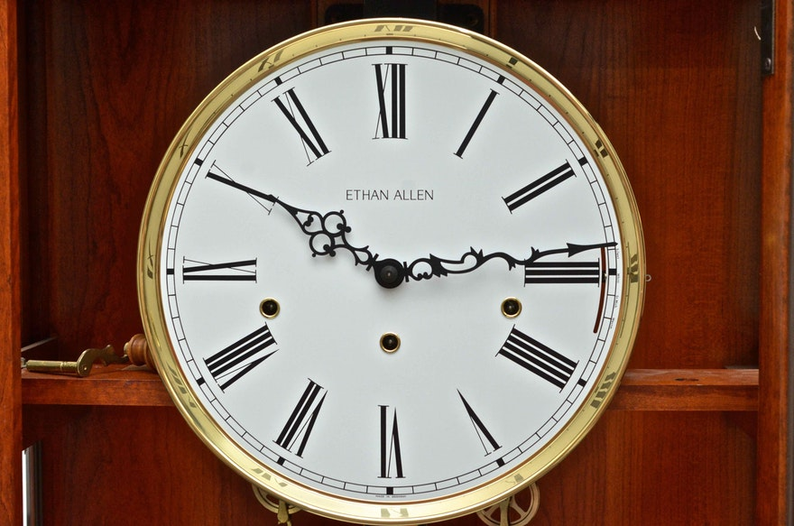 Ethan Allen Grandfather Clock Ebth