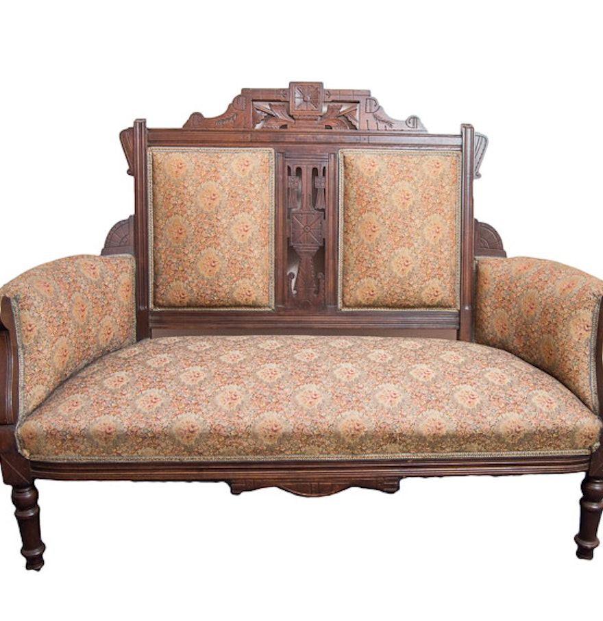 Antique Eastlake Settee Loveseat Ebth