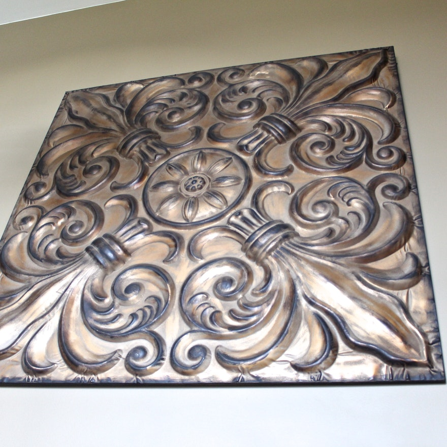 Large Tin Fleur De Lis Wall Decor