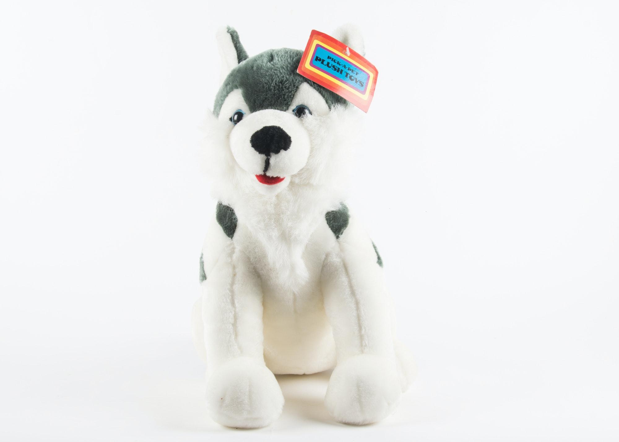 Pick A Pet Plush Balto Large Siberian Husky Stuffed Animal Ebth