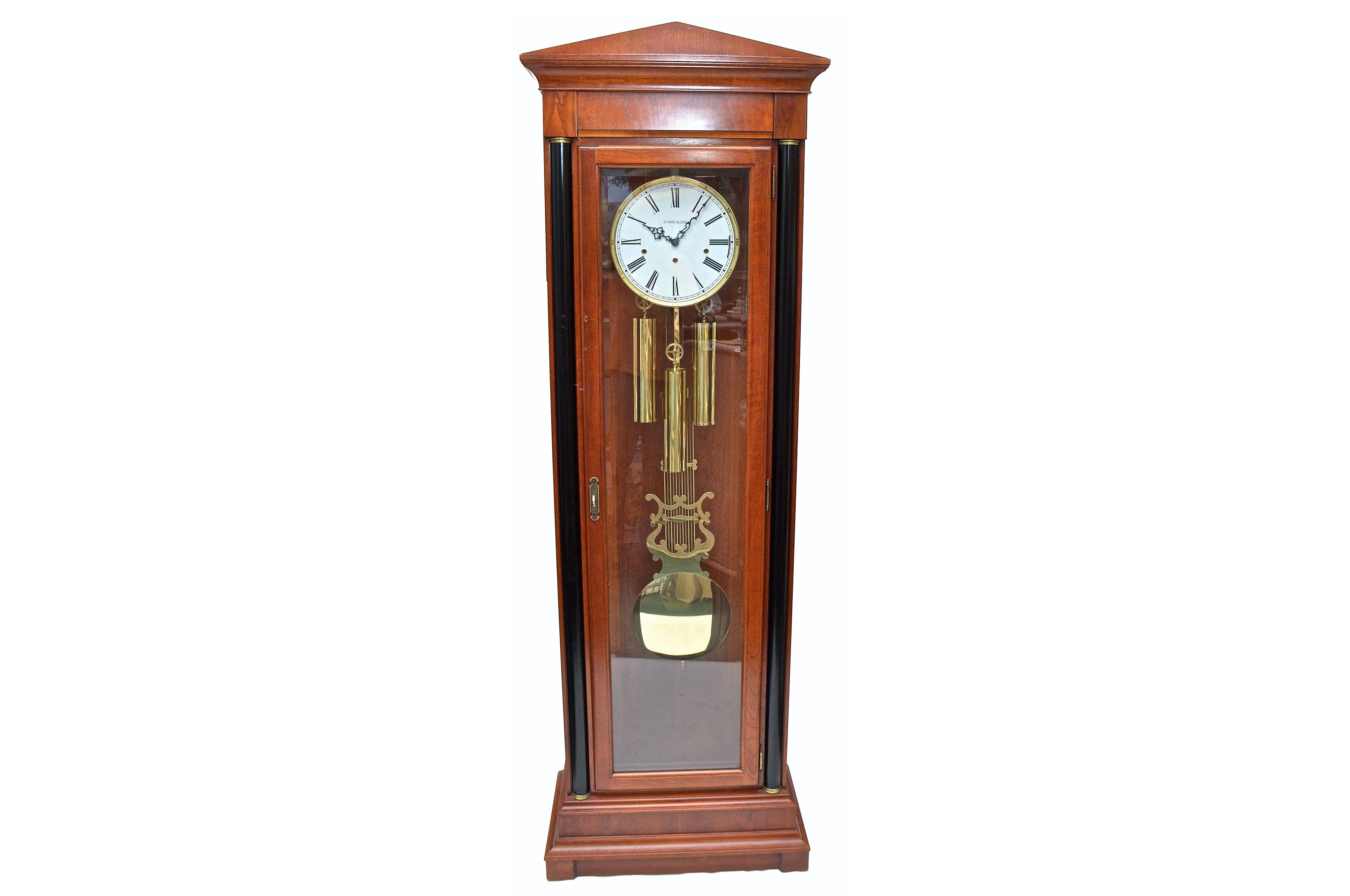 Ethan Allen Grandfather Clock : EBTH