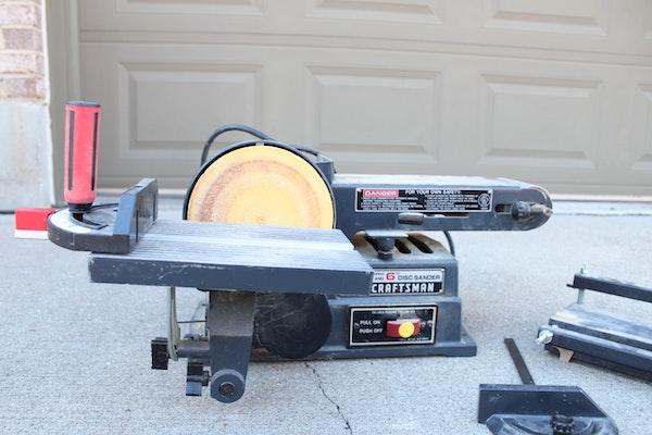 Craftsman motorized belt and disc sander ebth for 10 sanding disc for table saw