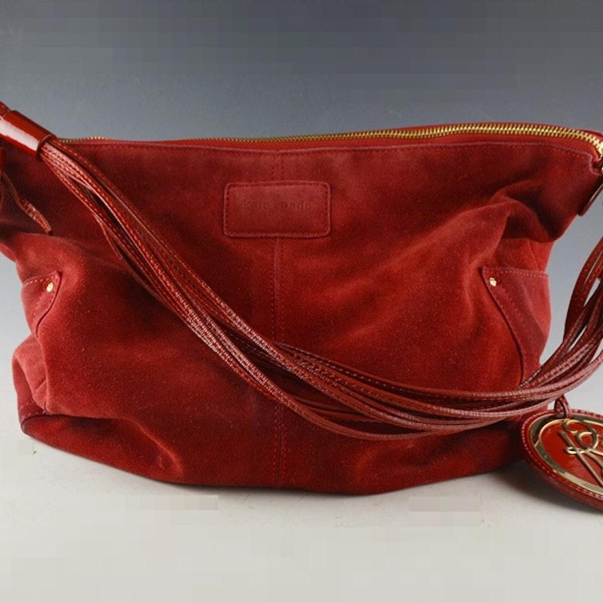 Kate Spade Red Suede Handbag