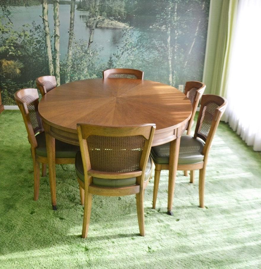 Vintage 1970s Henredon Dining Table & Six Chairs : EBTH