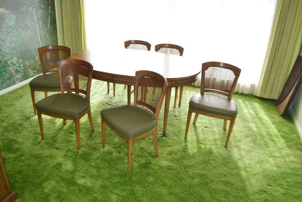 Vintage 1970s Henredon Dining Table Amp Six Chairs Ebth
