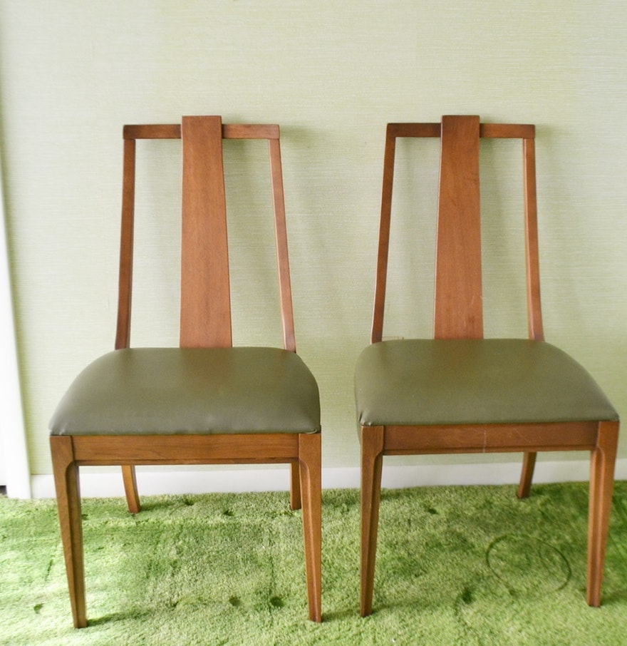 pair of mid century modern side chairs by lenoir chair company ebth. Black Bedroom Furniture Sets. Home Design Ideas