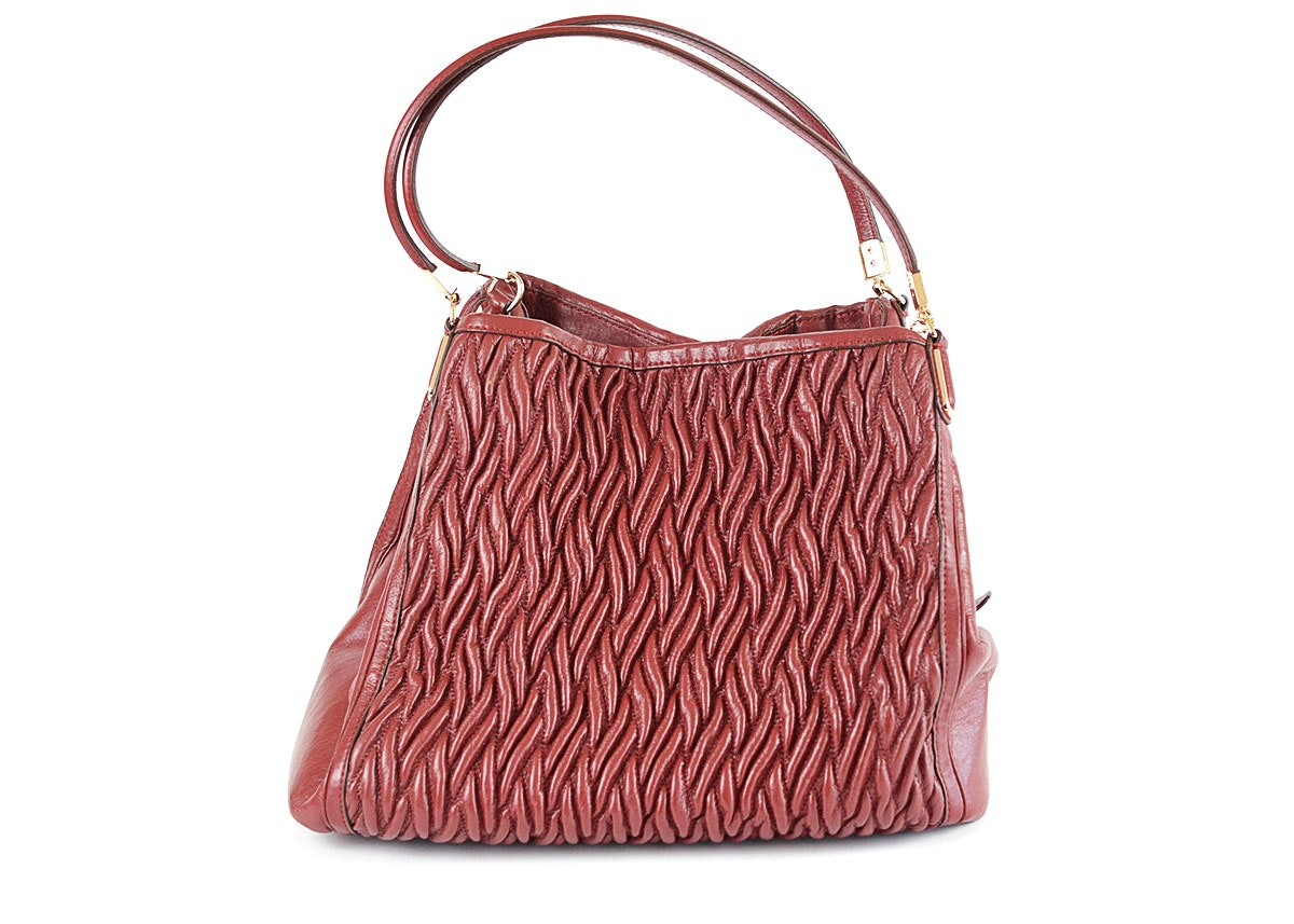 Coach Brick Red Madison Phoebe Leather Tote