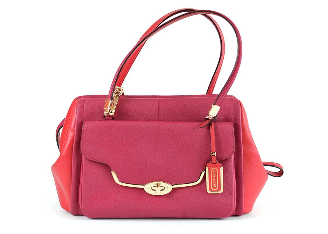 Coach Madison Madeline East/West Satchel Leather Handbag