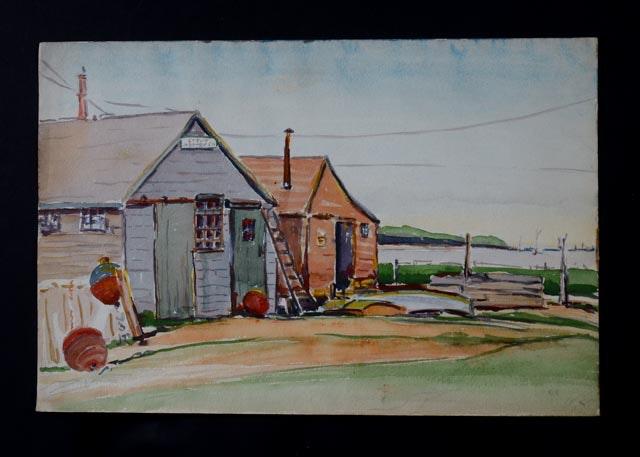 Unsigned Mitchell Graeme Original Watercolor
