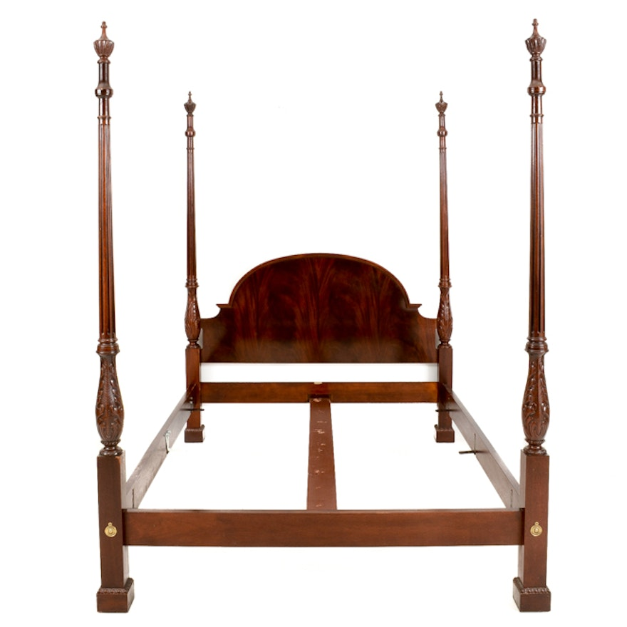 Baker Mahogany Four Poster Queen Bed Frame Ebth