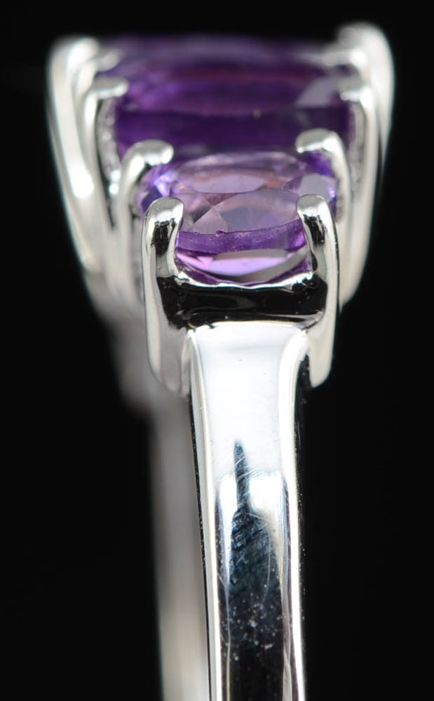 W & W Auto Sales >> Sterling Silver and Amethyst Stone Ring : EBTH