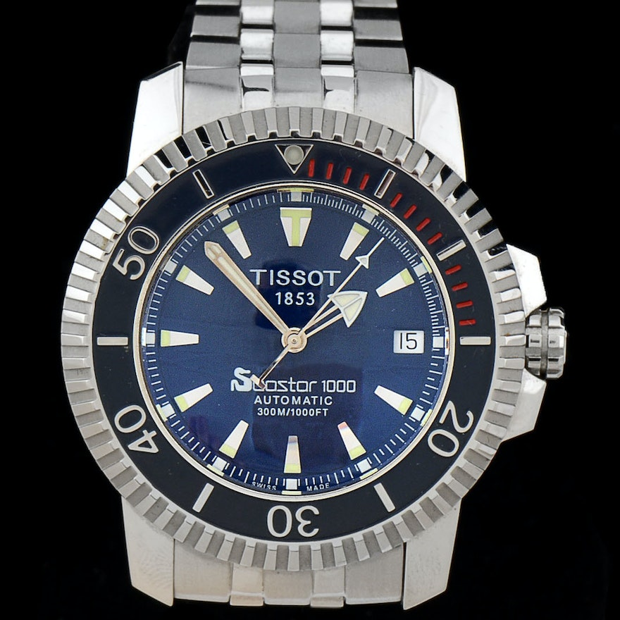 79f500dc4 Tissot Seastar 1000 Divers Stainless Steel Automatic 300m Watch | EBTH